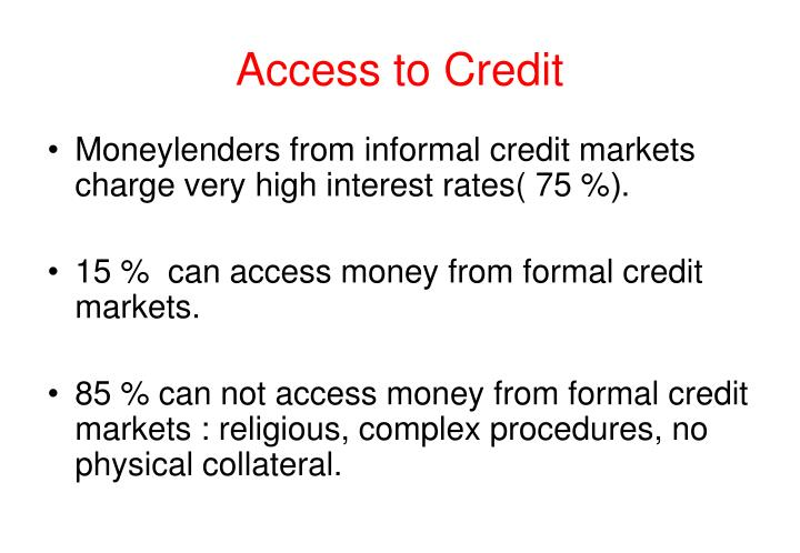 Access to Credit