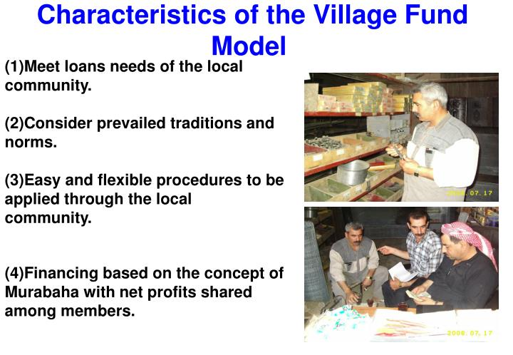 Characteristics of the Village Fund Model
