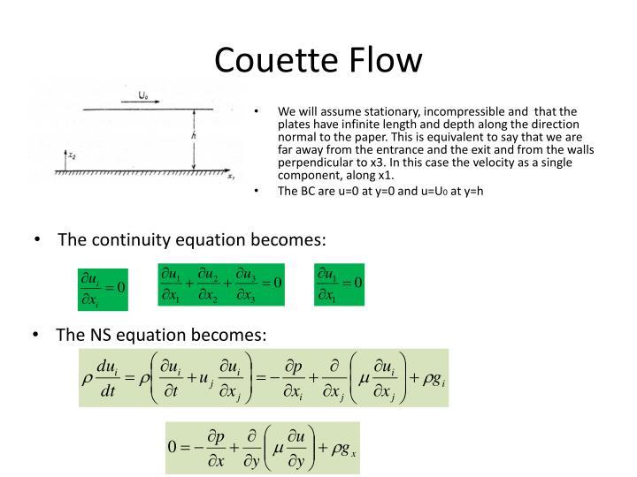 Couette flow
