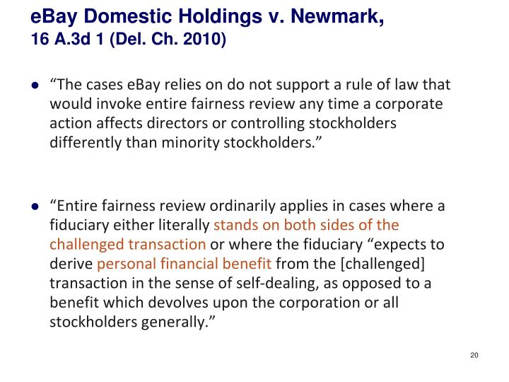 eBay Domestic Holdings v.