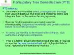 participatory tree domestication ptd