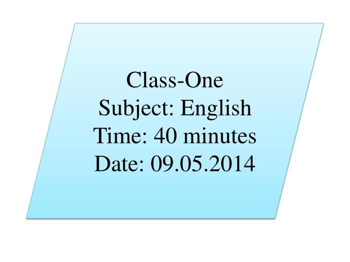 Class-One
