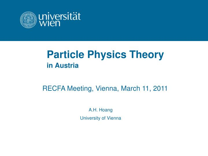 particle physics theory n.