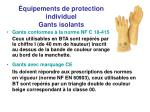 quipements de protection individuel gants isolants