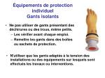 quipements de protection individuel gants isolants1