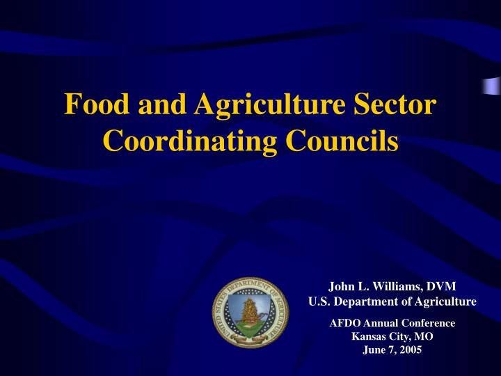 food and agriculture sector coordinating councils n.