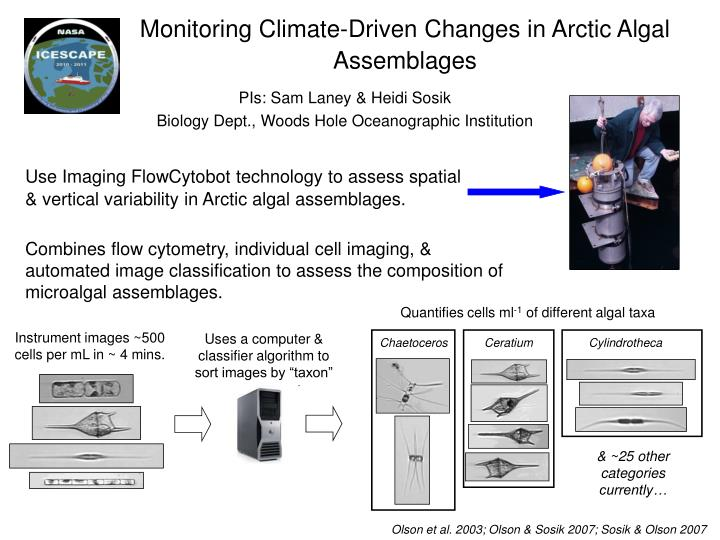Monitoring Climate-Driven Changes in Arctic Algal Assemblages