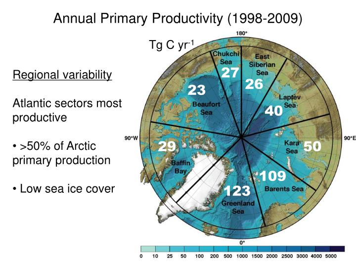 Annual Primary Productivity (1998-2009)