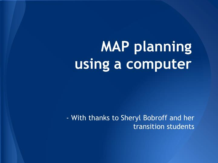 map planning using a computer n.