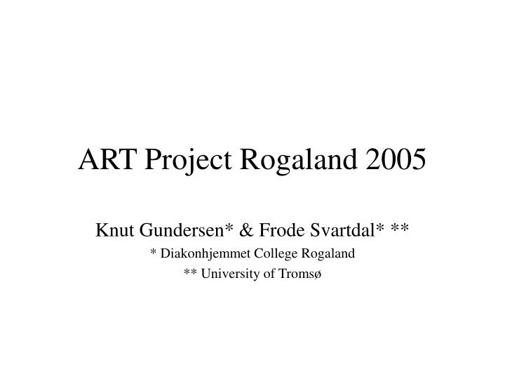 art project rogaland 2005 n.
