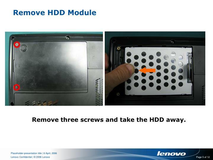 Remove HDD Module