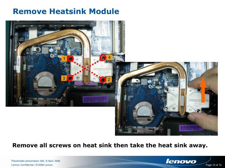 Remove Heatsink Module