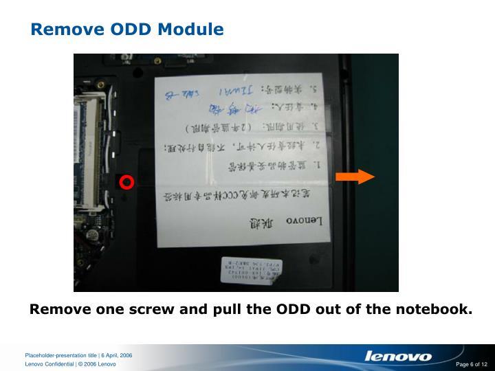 Remove ODD Module