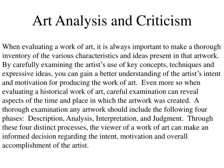 art analysis Technical analysis of one art literary devices and the technique of elizabeth bishop.