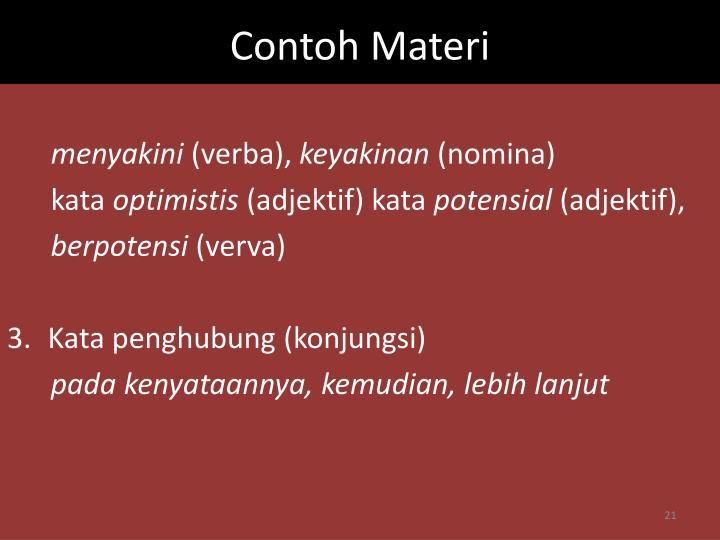 Contoh Materi