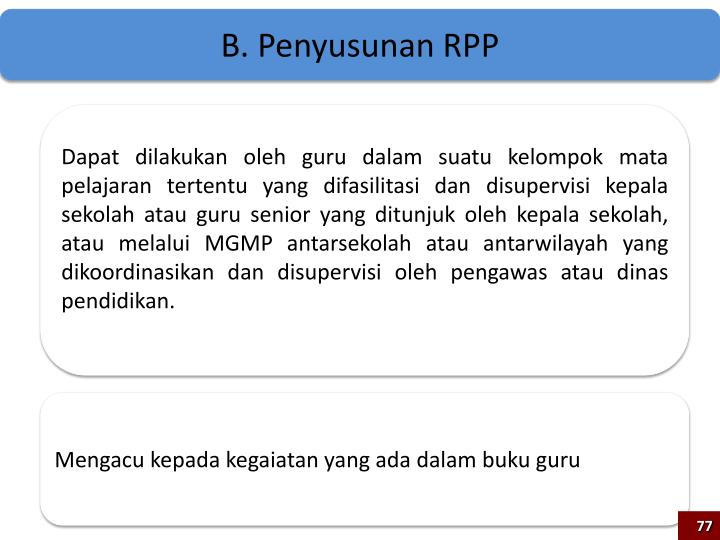 B. Penyusunan RPP