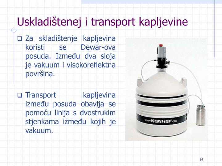 Uskladištenej i transport kapljevine