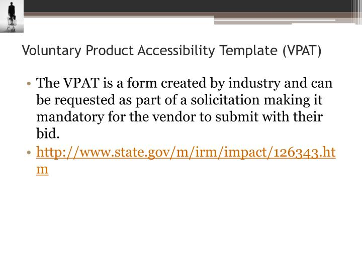 Ppt section 508 and wcag powerpoint presentation id for Voluntary product accessibility template section 508