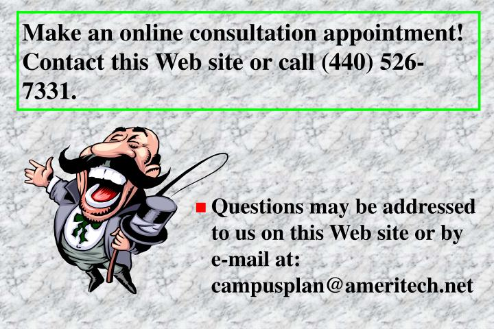 Make an online consultation appointment! Contact this Web site or call (440) 526-7331.