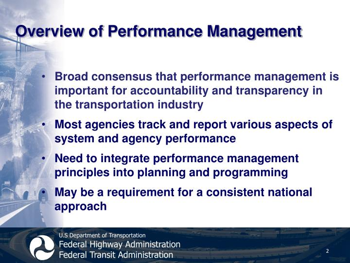 Overview of performance management