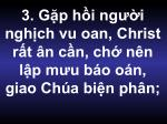 3 g p h i ng i ngh ch vu oan christ r t n c n ch n n l p m u b o o n giao ch a bi n ph n