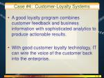 case 4 customer loyalty systems1