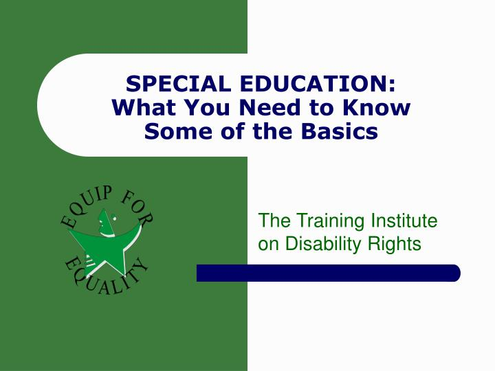 special education what you need to know some of the basics n.