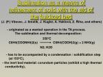 sublimation as a means of refinement of solid with the aid of the fluidized bed