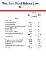 nike inc gaap balance sheet 1