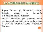 la matematica moderna