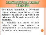 principios del orden estable