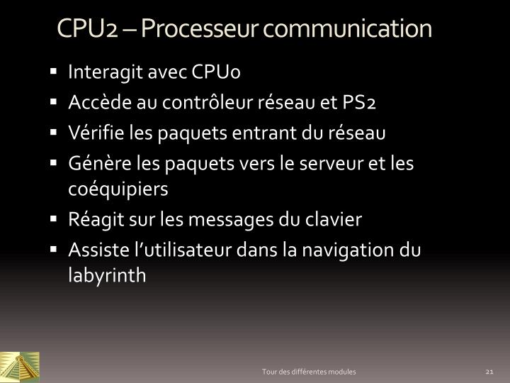 CPU2 – Processeur communication