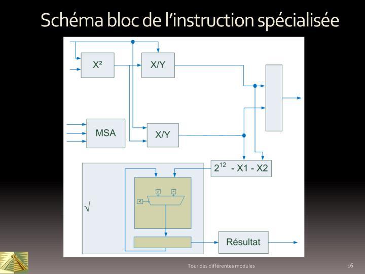 Schéma bloc de l'instruction spécialisée