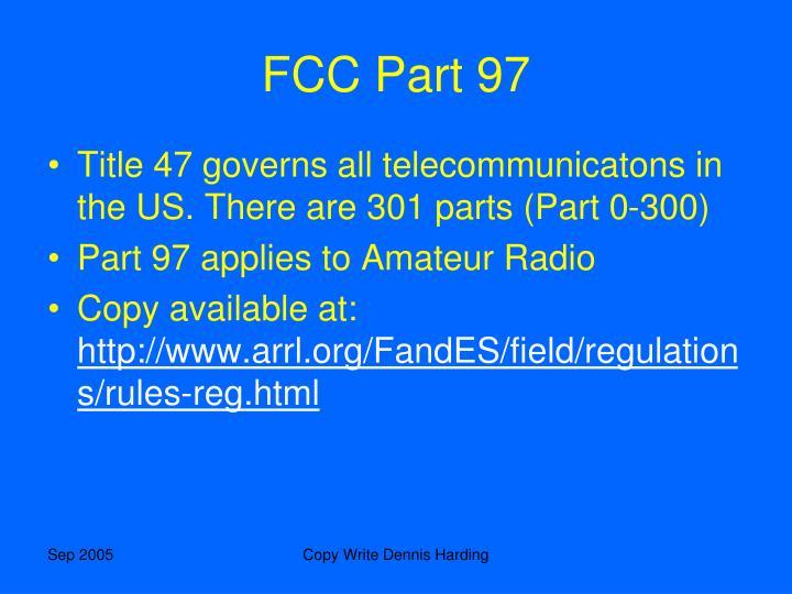 FCC Part 97