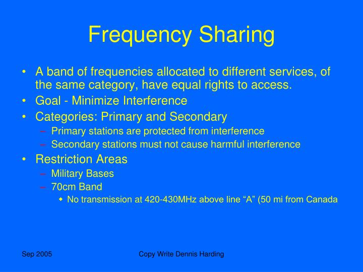 Frequency Sharing