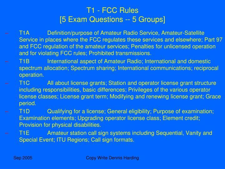 T1 - FCC Rules