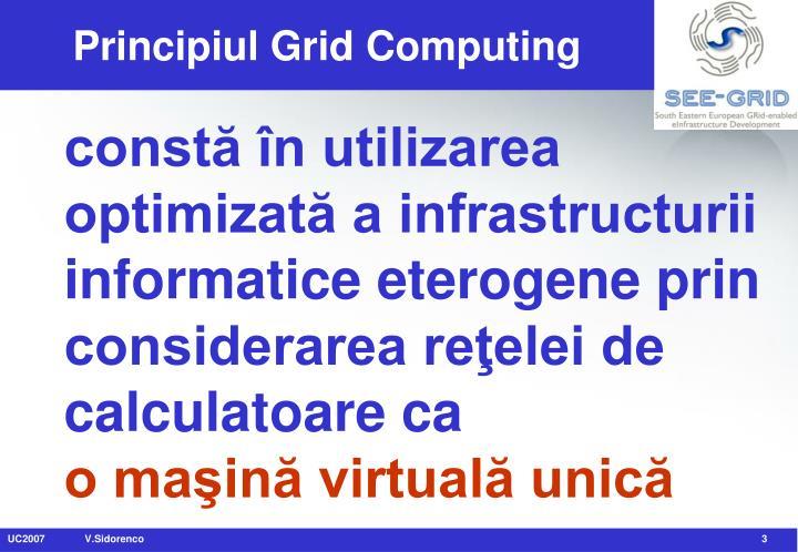 Principiul grid computing