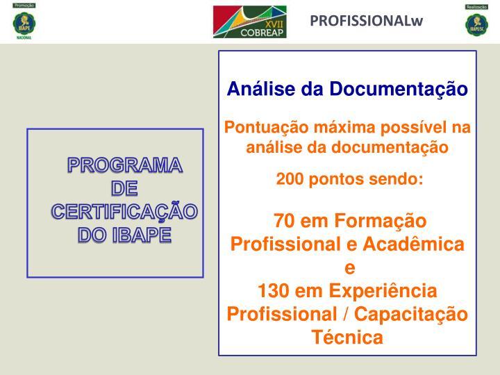 PROFISSIONALw