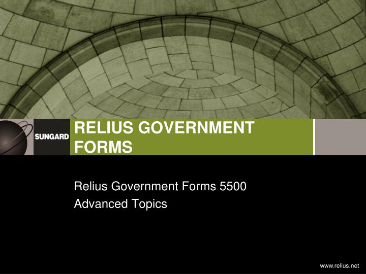 relius government forms 5500 advanced topics n.