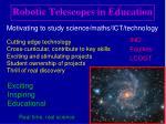 robotic telescopes in education