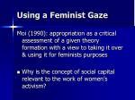 using a feminist gaze
