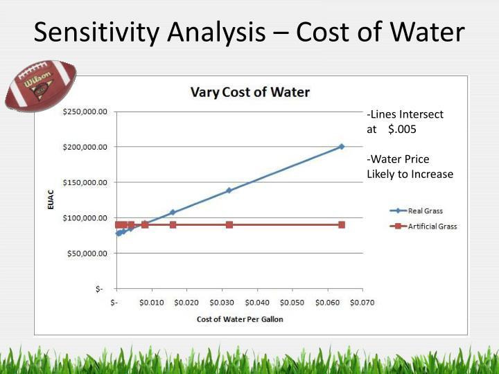 Sensitivity Analysis – Cost of Water