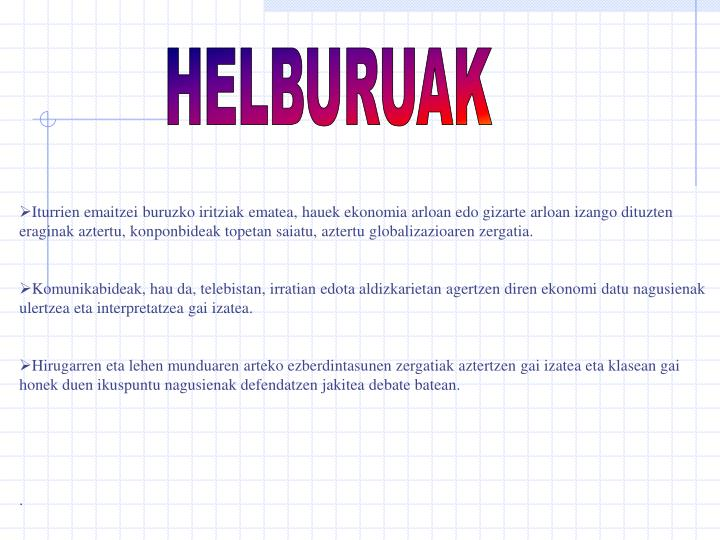 HELBURUAK
