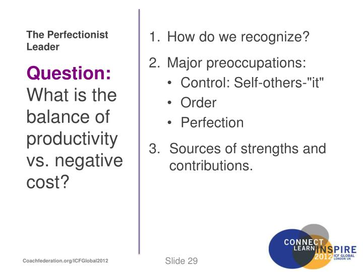 The Perfectionist Leader