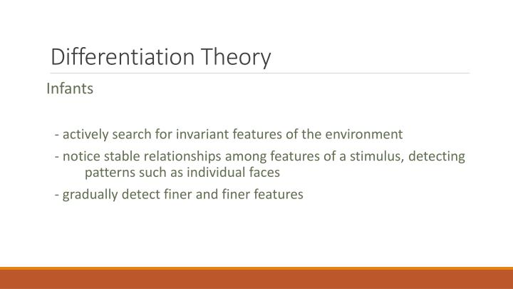 Differentiation Theory
