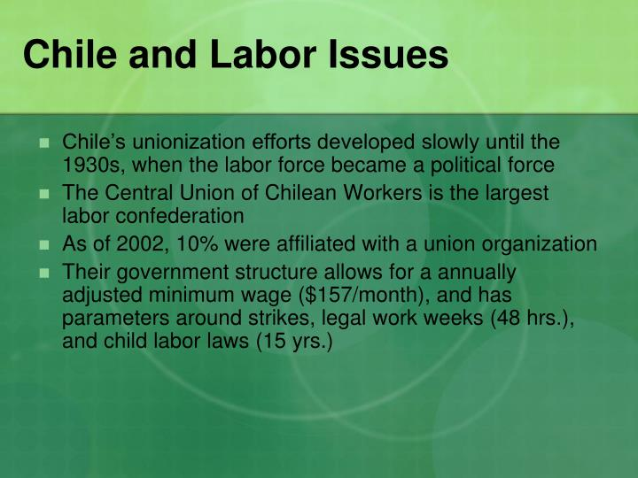 Chile and Labor Issues