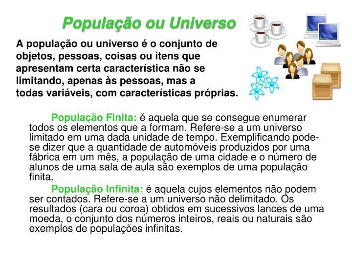 População ou Universo