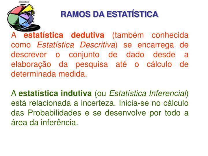 RAMOS DA ESTATÍSTICA