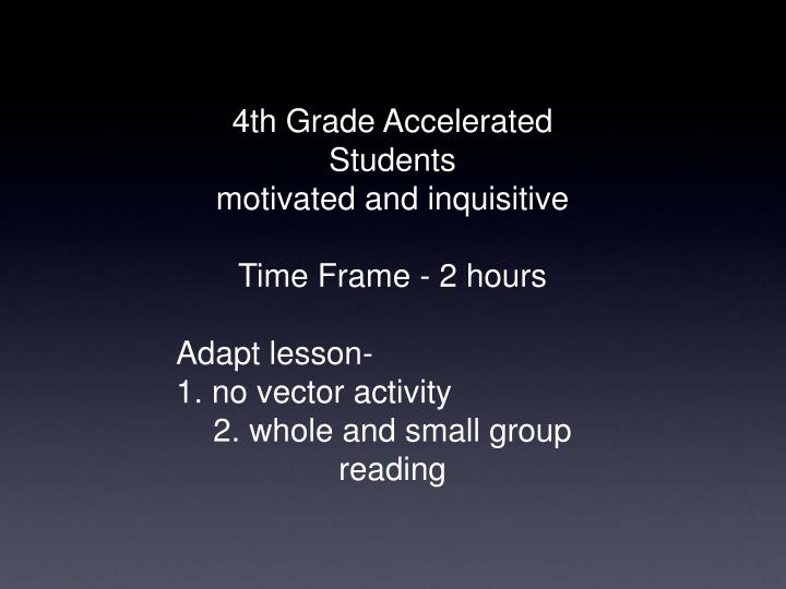 4th Grade Accelerated Students