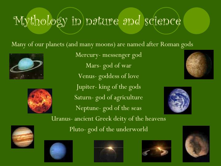 Mythology in nature and science